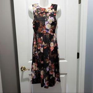 ASOS Black Floral Empire Waist Sleeveless Dress 4
